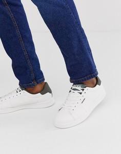 Кроссовки цвета хаки с контрастной пяткой Jack & Jones-Белый