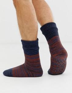 Темно-синие окрашенные носки Totes-Темно-синий