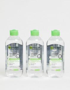 Очищающая мицеллярная вода для комбинированной кожи (3 шт.) Garnier - 400 мл-Бесцветный