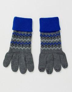 Синие перчатки с традиционным узором Фэйр-Айл Boardmans-Синий