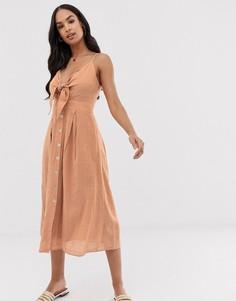 Фактурное летнее платье с узлом Y.A.S-Мульти