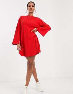 Свободное платье в рубчик ASOS DESIGN-Зеленый
