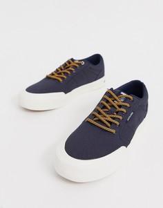 Темно-синие парусиновые кроссовки Jack & Jones-Темно-синий