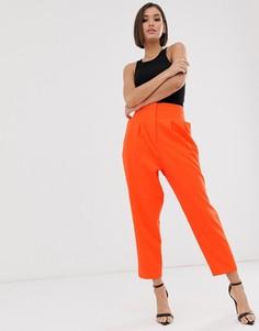 Оранжевые зауженные брюки в стиле 80-х ASOS DESIGN-Оранжевый