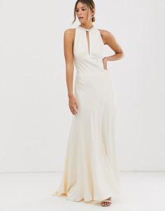 Атласное свадебное платье ASOS EDITION-Белый