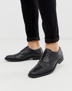 Черные кожаные туфли на толстой подошве Redfoot-Черный