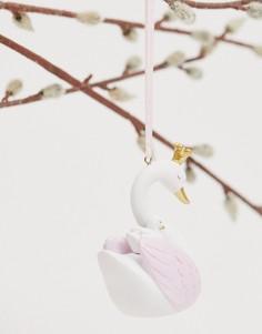 Новогоднее елочное украшение в виде фигурки лебедя Sass & Belle-Мульти