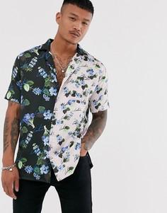 Рубашка с короткими рукавами и принтом The Couture Club-Синий