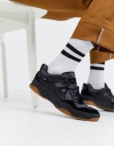 Кроссовки в стиле колор блок черного цвета Vans Varix-Черный