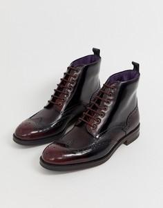 Бордовые блестящие ботинки-броги Ted Baker twrehs-Красный