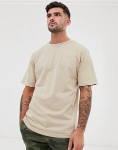 Светло-бежевая oversize-футболка River Island-Светло-бежевый