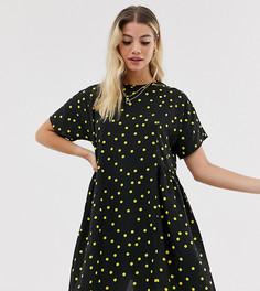 Свободное платье с принтом Wednesdays Girl-Черный