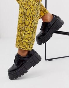 Черные туфли на массивной плоской подошве ASOS DESIGN Middle-Черный