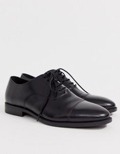 Черные кожаные туфли Office-Черный
