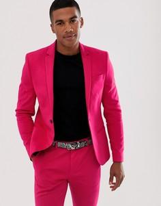 Неоново-розовый пиджак скинни River Island