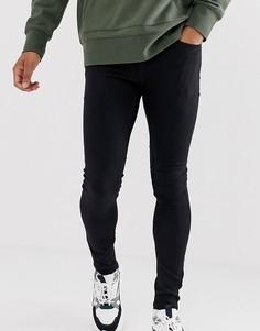 Черные джинсы с напылением Topman-Черный