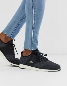 Черные кроссовки Lacoste-Черный