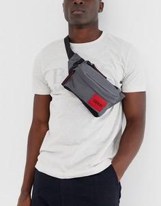 Серая сумка-кошелек на пояс HUGO - Kombinat-Серый