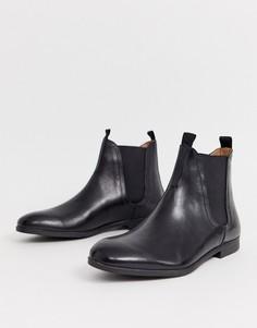 Черные кожаные ботинки челси H by Hudson aherston-Черный