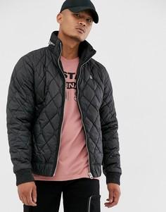 Черная стеганая куртка на молнии G-Star Meefic-Черный