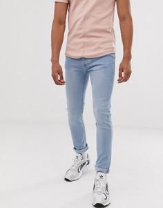 Голубые джинсы скинни Topman-Серый