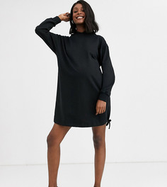 Короткое платье-худи ASOS DESIGN Maternity-Черный