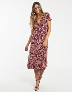 Платье миди с цветочным принтом Vero Moda-Мульти