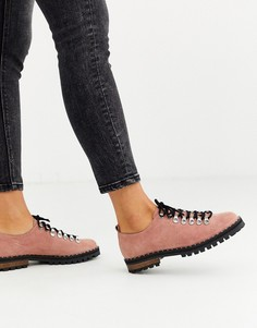 Розовые туфли на плоской подошве ASOS DESIGN Midnight-Розовый