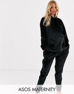 Комплект из худи и джоггеров для дома ASOS DESIGN Maternity-Черный
