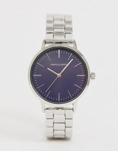Серебристые часы-браслет ASOS DESIGN-Серебряный