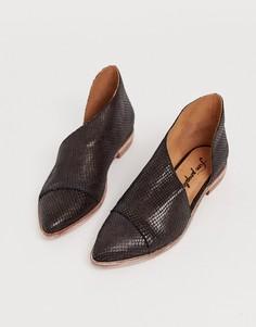 Фактурные туфли на плоской подошве Free People - royale-Коричневый