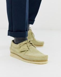 Замшевые туфли Clarks Originals-Бежевый