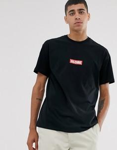 Черная футболка с логотипом Globe-Черный
