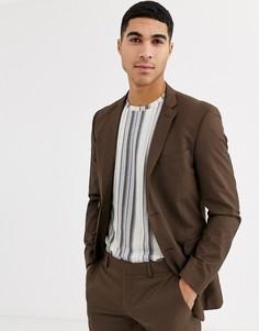 Облегающий пиджак Esprit-Светло-коричневый