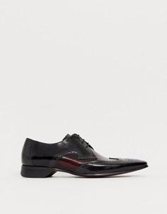 Черные кожаные туфли с контрастной отделкой Jeffery West - Escobar-Черный