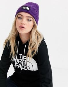Фиолетовая шапка-бикини с отворотом и логотипом The North Face TNF-Фиолетовый