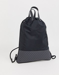 Темно-синий спортивный рюкзак с логотипом Emporio Armani