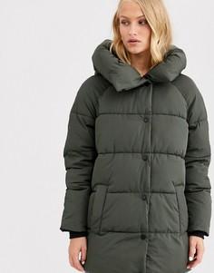 Длинное дутое пальто Only-Черный