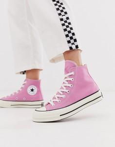Высокие розовые кеды Converse Chuck 70-Розовый