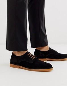 Черные замшевые туфли Selected Homme-Черный