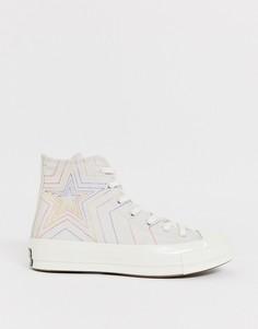 Высокие кеды с разноцветными звездами Converse Chuck 70-Мульти