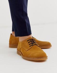 Светло-коричневые замшевые туфли Selected Homme-Светло-коричневый