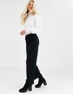 Черная юбка макси в рубчик Noisy May-Черный