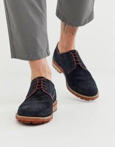 Темно-синие замшевые туфли Silver Street-Темно-синий