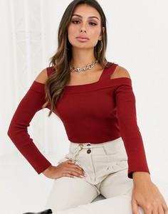 Джемпер с открытыми плечами ASOS DESIGN-Красный