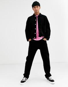 Черные вельветовые брюки Weekday Sunday-Черный
