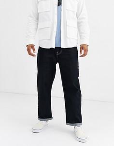 Укороченные широкие джинсы цвета индиго Brooklyn Supply Co-Синий