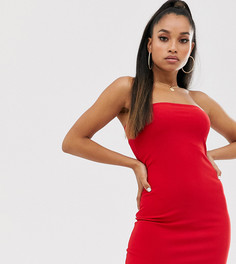 Красное платье-бандо мини Fashionkilla Petite going out-Красный