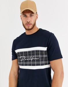 Темно-синяя футболка с принтом River Island - prolific-Темно-синий