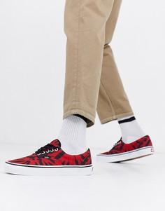 Красные кроссовки с принтом тай-дай Vans Era-Мульти